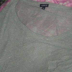 Torrid size 5 gray sparkling very thin sweater